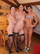 Two mature sluts enjoy a hot sluuty babe