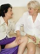 Two older lesbians and a hot fucking teeny babe