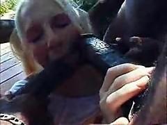 Ebony Monster Cock Blowjob and Faccial