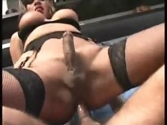 Hot Black Shemale Gets Fucked