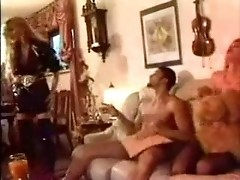 Sybille Rauch and her sister fuck each other and have orgy