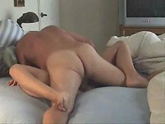 Wife talks dirty as her husband fucks her hard