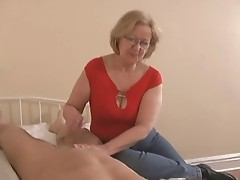 woman jacking-off a young guy do not miss