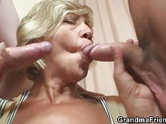 Hot mature - milf  slut fucked by two young guys
