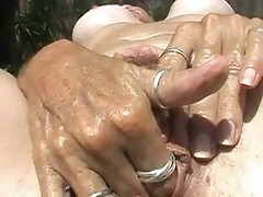 Sexy milf fingering hairy pussy