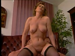Office Milf in Stockings Fucks