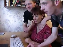 Russian Mom Gangbanged