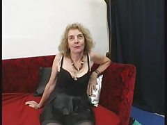 French old Agnes, gangbanged by few men