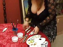 Busty mature bitch gets DPed in the kitchen