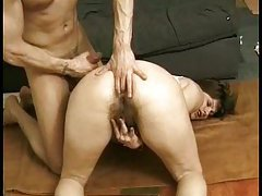 Hairy Pussy And Ass Meet Fat Dick!