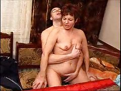 Horny mom has sex with her son