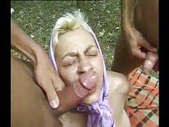Granny and mature sluts outdoor fucking