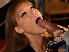 Hot Busty Redhead Cougar Bangs Biker