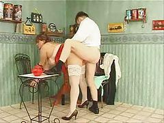 granny in white stockings