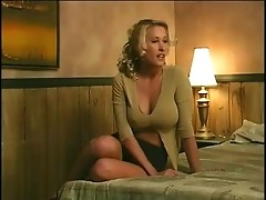 Busty blond milf called a guy from sex service