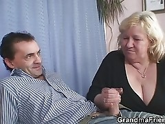 Husband sharing his old wife with his psychologist