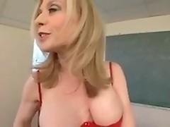 Mature milf Nina Hartley smokes dong of youngster