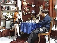Naughty Redhead Granny Satisfied By Young Guy