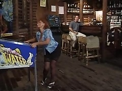 granny in bar