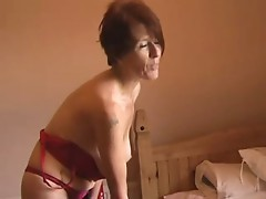 Milf in Stockings Strips