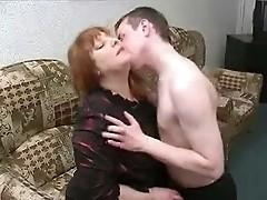 Fat BBW Russian mature mom son