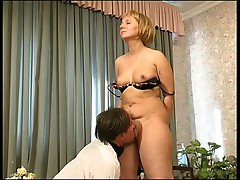 Milf Catches Boy with Panties