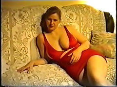 SAG - Red Stretch-Skirt Tank Body Suit Big Jugs 2o2