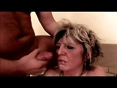 Saggy Tits Mature Milf in Stockings Fucks
