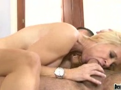 Busty Blonde Milf Fucked by Young Dude