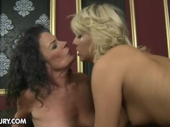 A horny mama and a hot babe