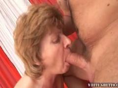Grandma babe loves cock sucking