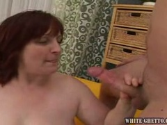 Fat grandmama fucked by a young dude