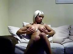 Nice tattoo girl masturbate
