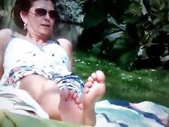 Feet spy in Park 1