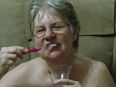 Granny's Cum Toothbrush