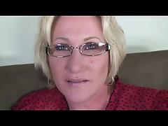 Blonde Granny in Glasses