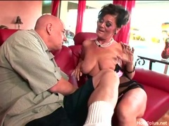 Horny mature Debella gets banged by school friend