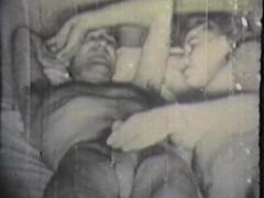 Fucking sex orgy in retro style at home