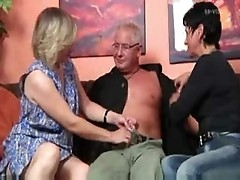 Amazing mature threesome ffm