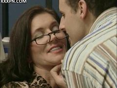 Sexy Mature Woman With Big Boobs Fucked And Creamed In Her Office