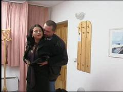 Video clips of a sexy mature babe sucking on a random white cock