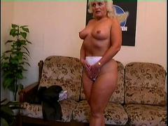 Sexy bodied granny  a masturbating