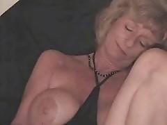 Slut mature wife masturbating with a bottle
