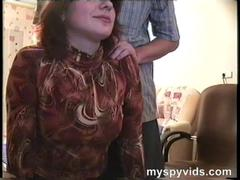 Mature babe fucking by her husband on spycam at home