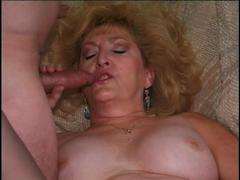 Wild and Horny Mature Blonde Slut Sucking Cock and Fuck Dick With Two Men