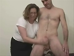 my mature wife jerking her slave