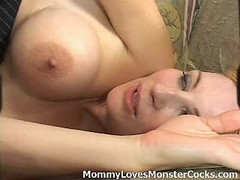 Horny blonde mom gets licked and fucked