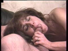 Beautiful Old Whore Enjoys a Hard Sideways Pumping