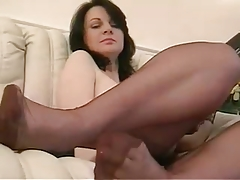 Nylon Mature in FF-Stockings