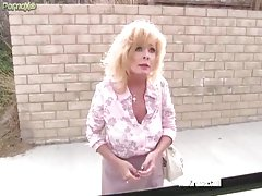 Tasty cum creams on mature slut face